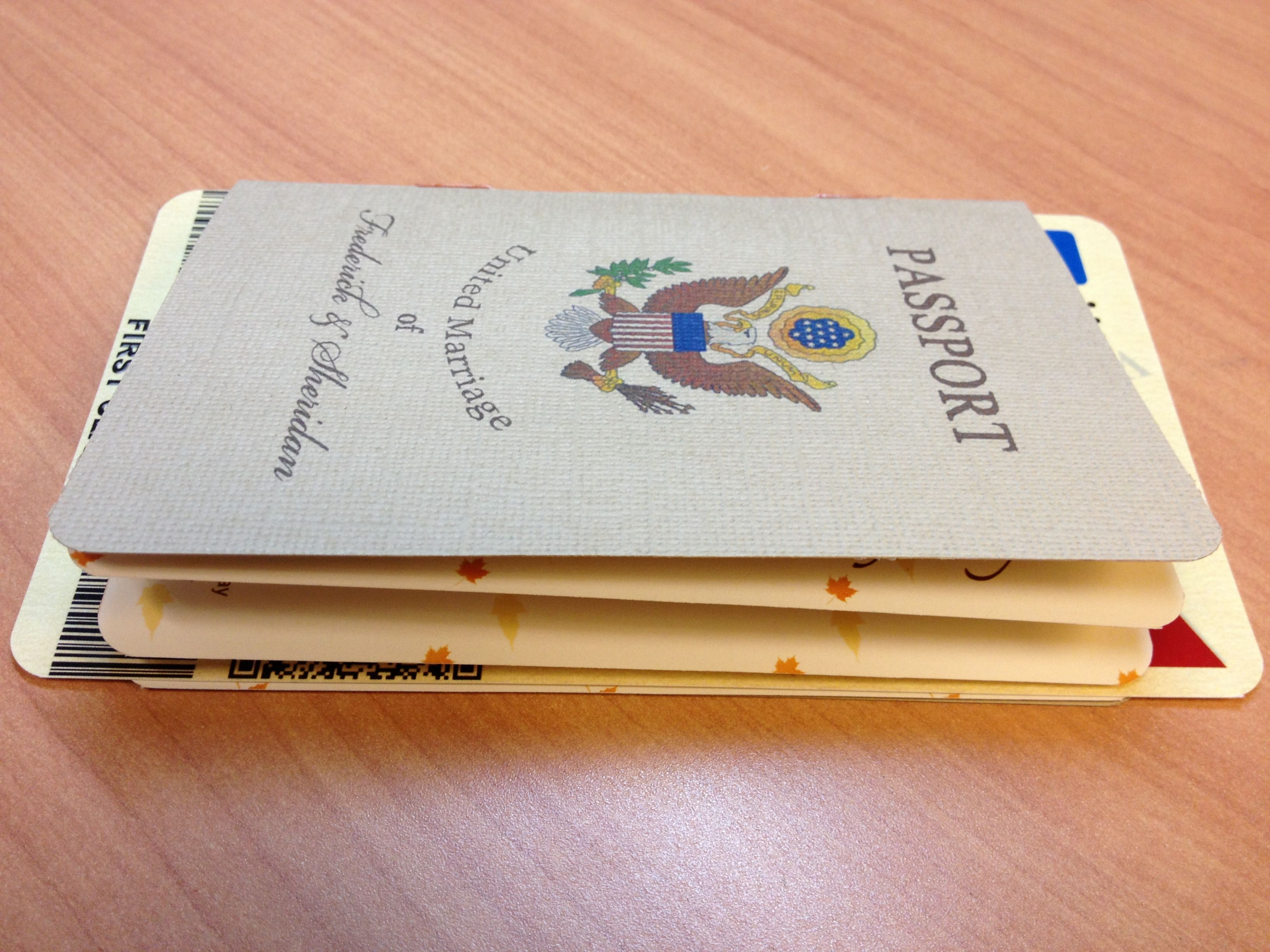 Diy passport wedding invitation passport wedding