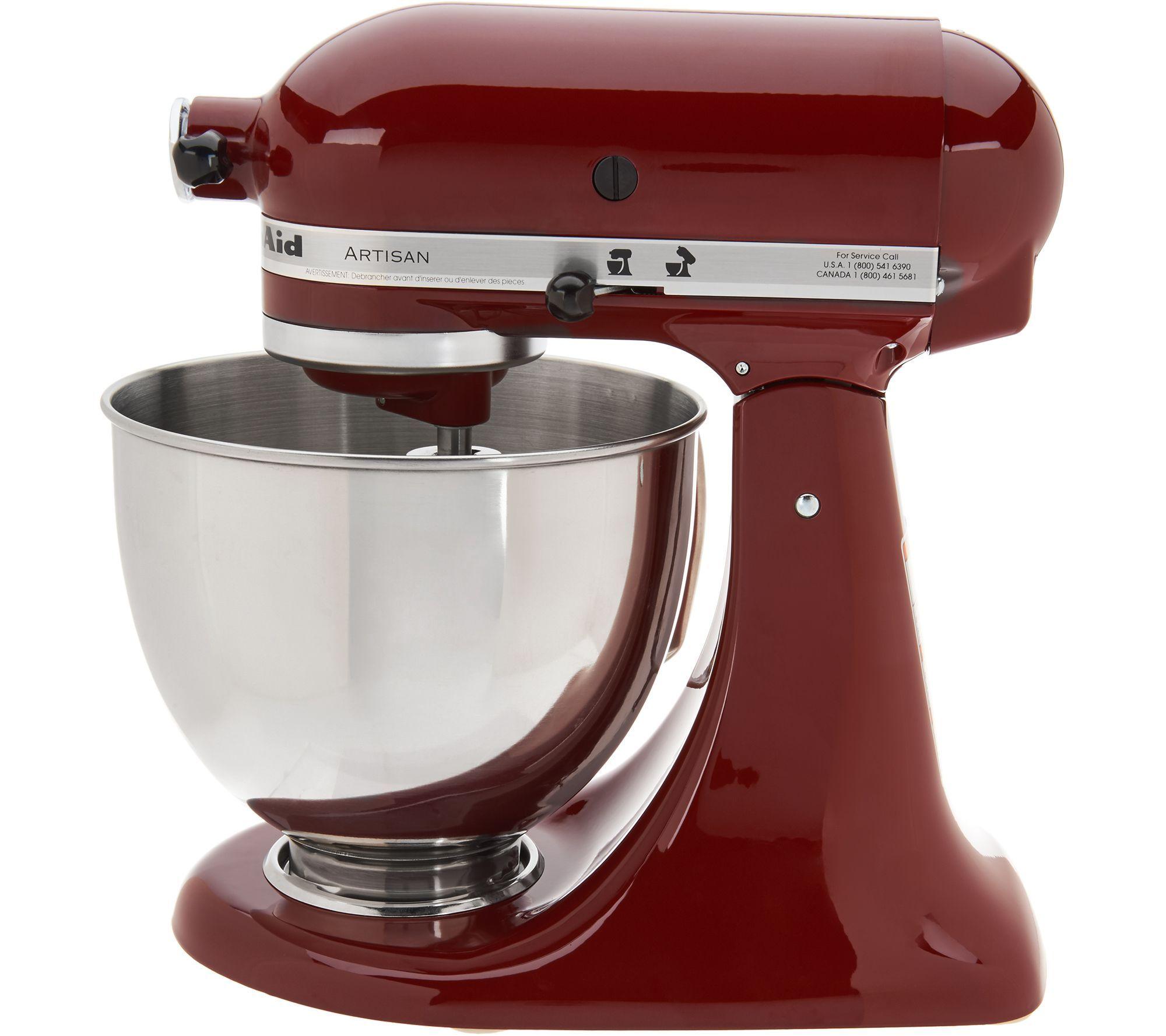 Kitchenaid 5qt 325w artisan stand mixer with flex edge