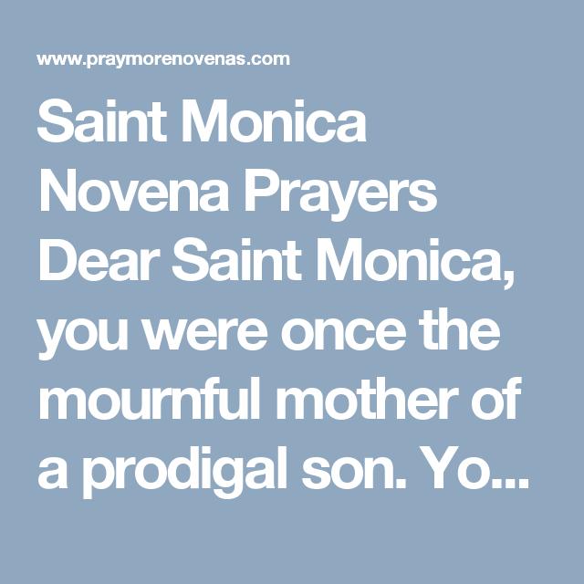 Saint monica novena