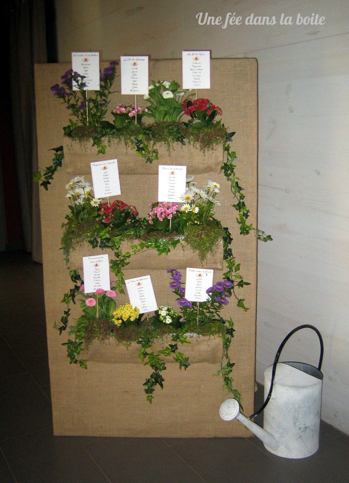 mariage campagne chic plan de table mur v g tal fleuri les jolis mariage d 39 une f e dans la. Black Bedroom Furniture Sets. Home Design Ideas