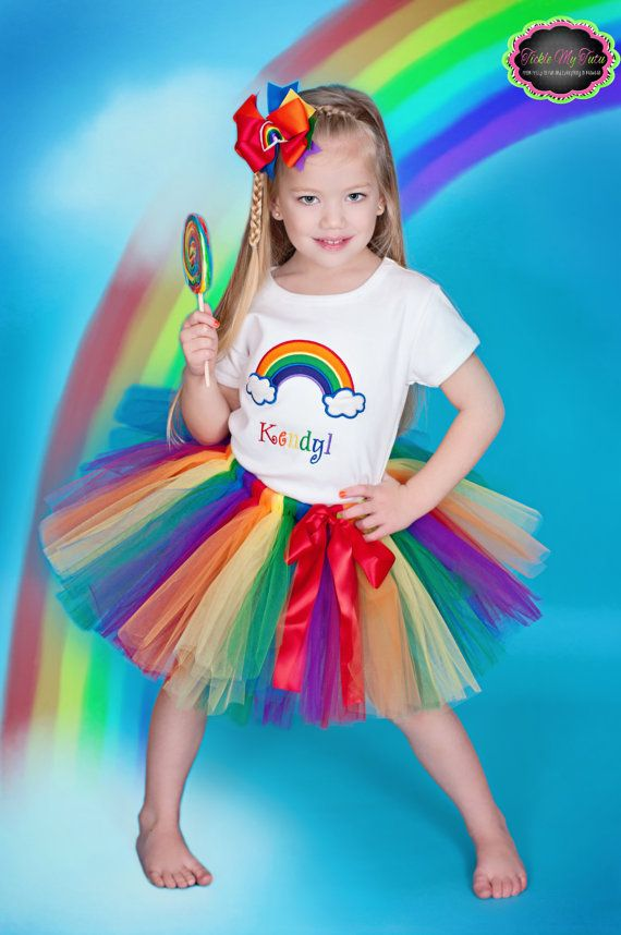 Over the Rainbow Birthday Tutu Outfit - order on etsy