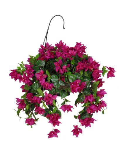 Brand new silk flowers artificial bougainvillea hanging basket brand new silk flowers artificial bougainvillea hanging basket violet fuchsia mightylinksfo