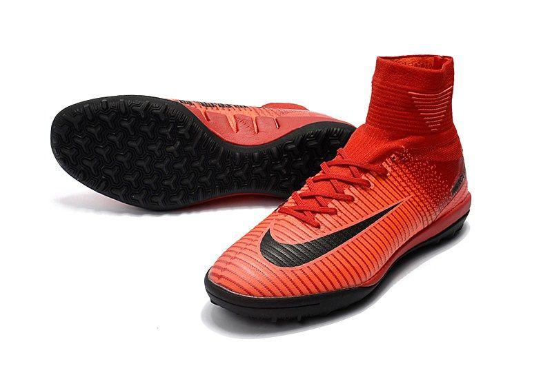 Chuteira Society Nike Mercurial Superfly V TF Rosa Prata
