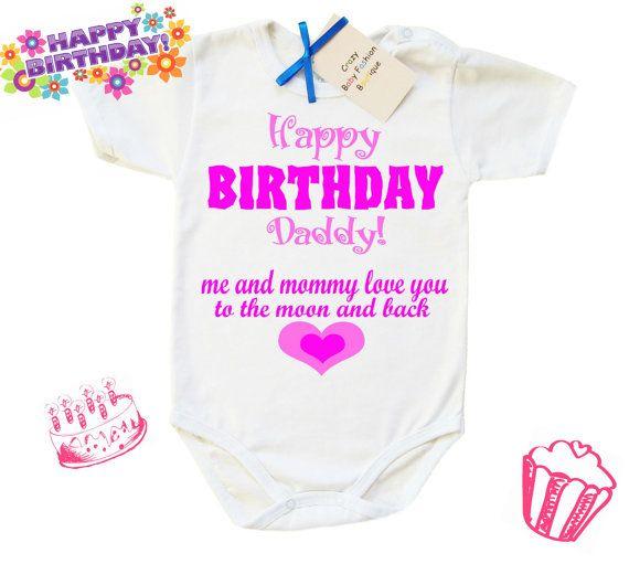 Happy Birthday Daddy Cute Baby Design