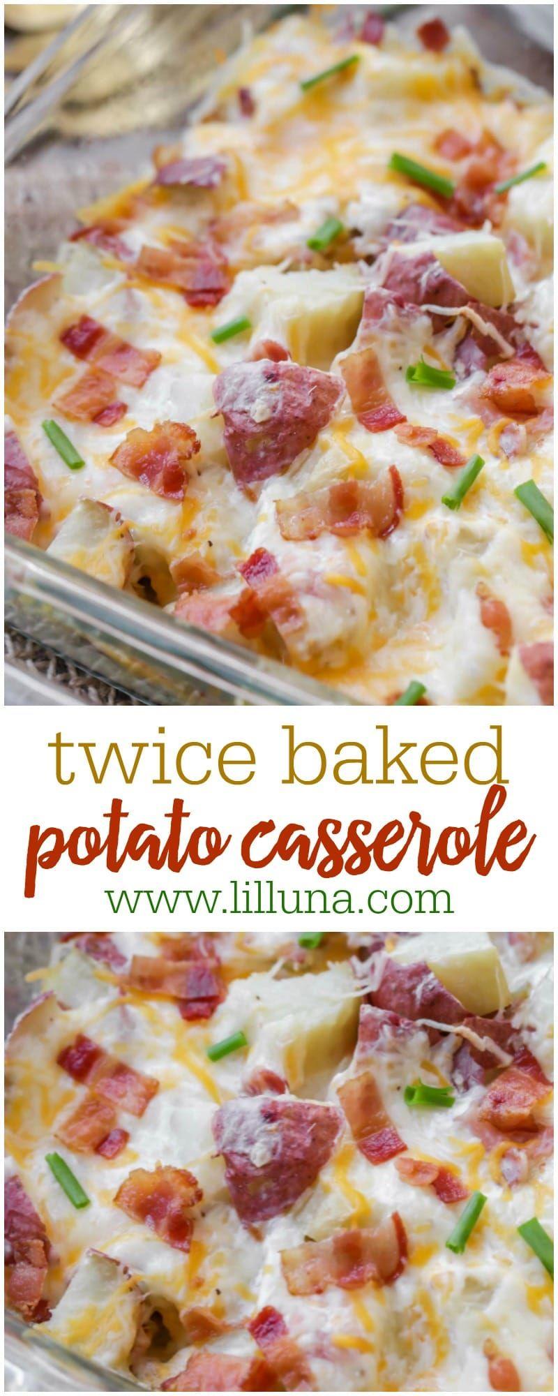 Twice Baked Potato Casserole Recipe Video Lil Luna Recipe Twice Baked Potatoes Casserole Potatoe Casserole Recipes Baked Potato Casserole