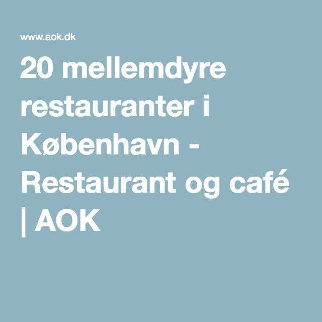 mellemdyre restauranter københavn