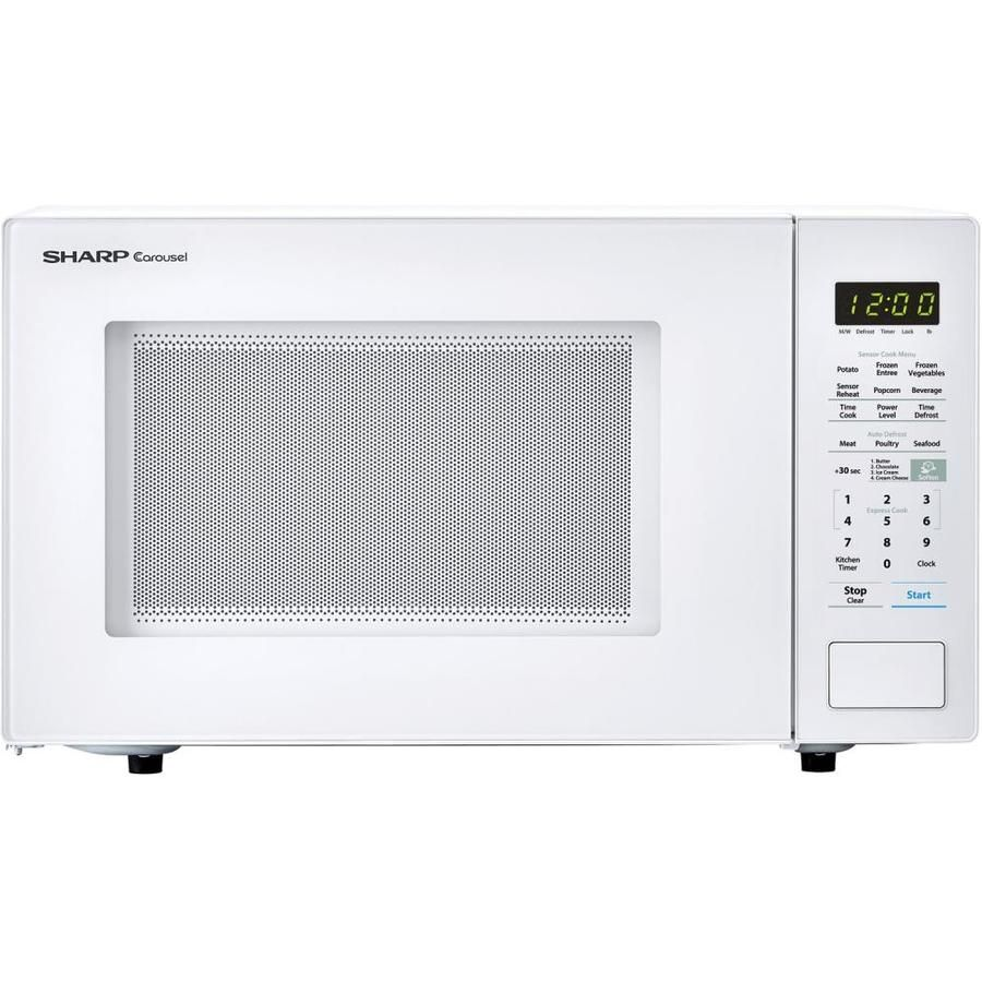 Sharp Carousel 1 4 Cu Ft 1000 Countertop Microwave White At Lowes Com Countertop Microwave Countertop Microwave Oven Microwave Oven