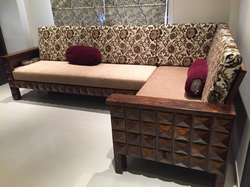 L Shaped Solid Sheesham Wood Sofa Customers Kept Us Asking For L Shape Wooden Sofa And We Created A Wooden Sofa Designs Wooden Sofa Living Room Sets Furniture