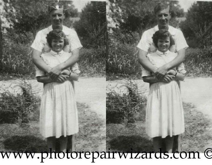 Quality photo repair services and the lowest prices. makes an