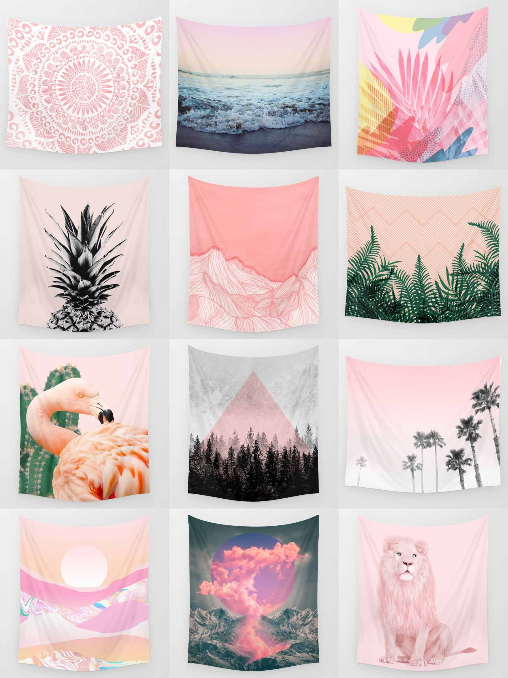 Society6 Pink Tapestries Society6 Is Home To Hundreds Of