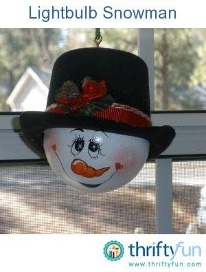 Photo of Recycled Vanity Lightbulb Snowman