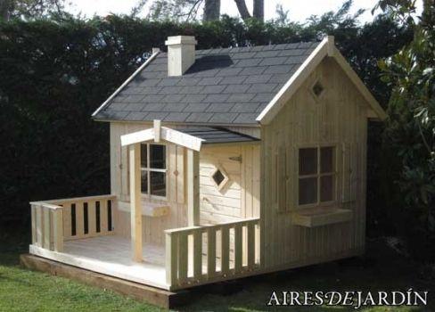 jardn casas de madera