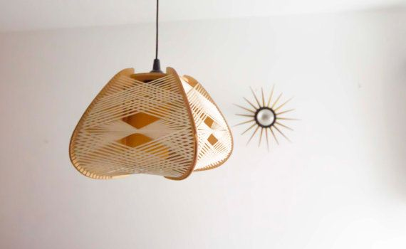 Vintage scandinavian lamp 70s wood and rope by lechatnouveau vintage scandinavian lamp 70s wood and rope by lechatnouveau greentooth Choice Image