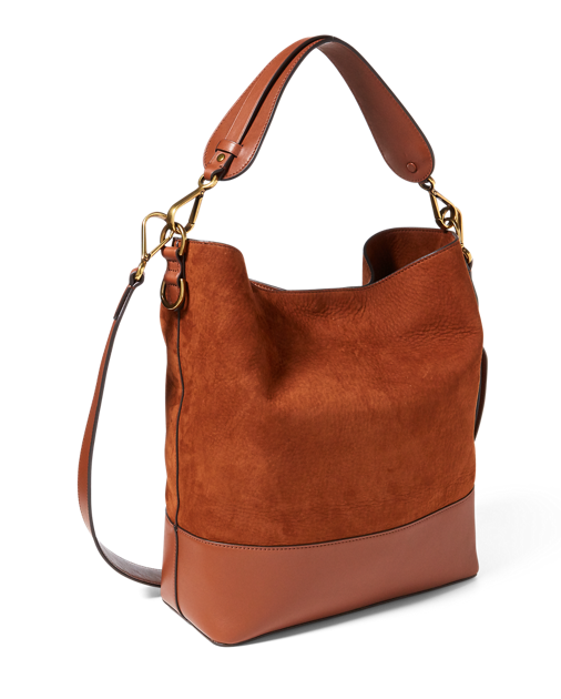 Nubuck leather hobo bag  ac7c3f8e19f49