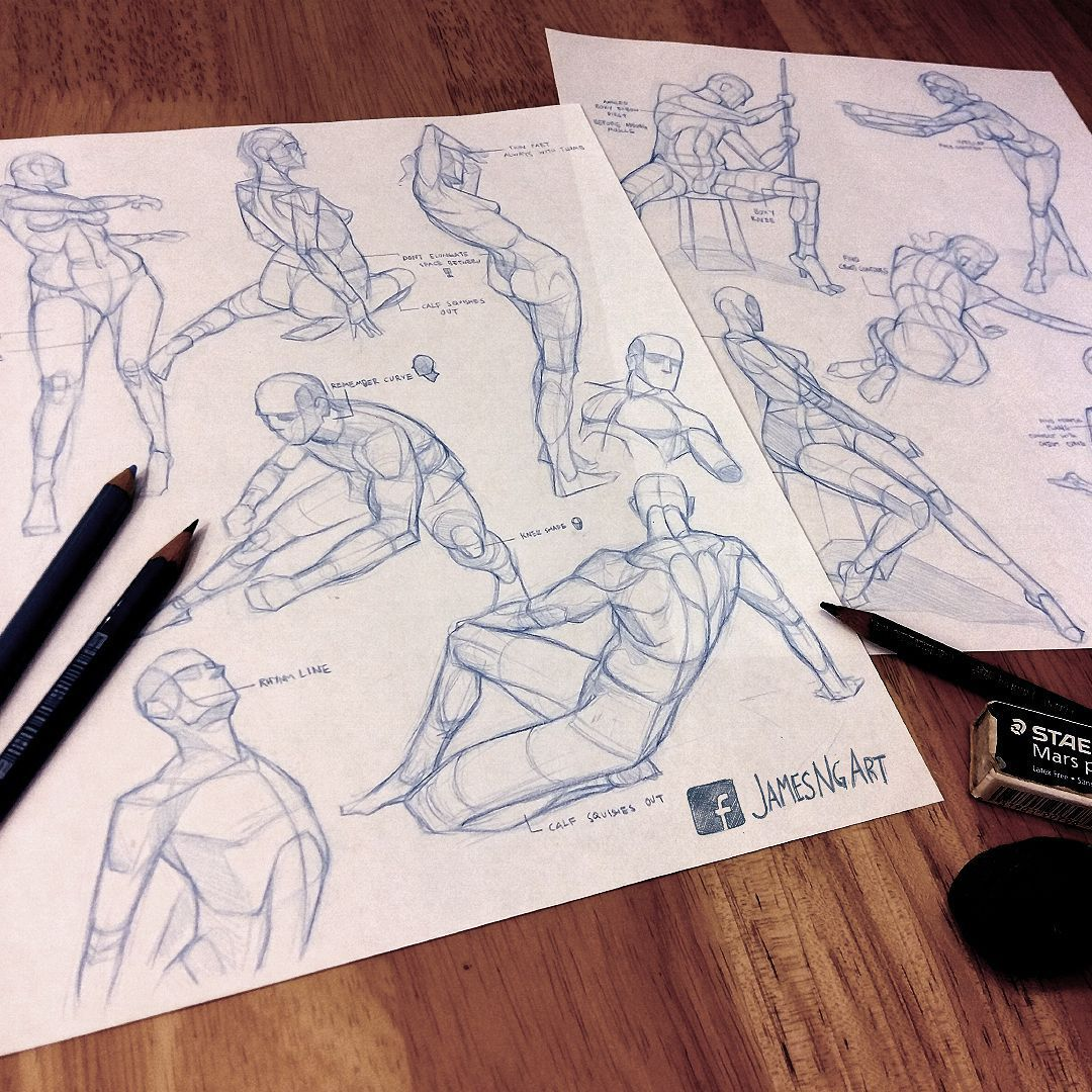 More Gesture studies from reference @jamesngart #Pencil #Sketch