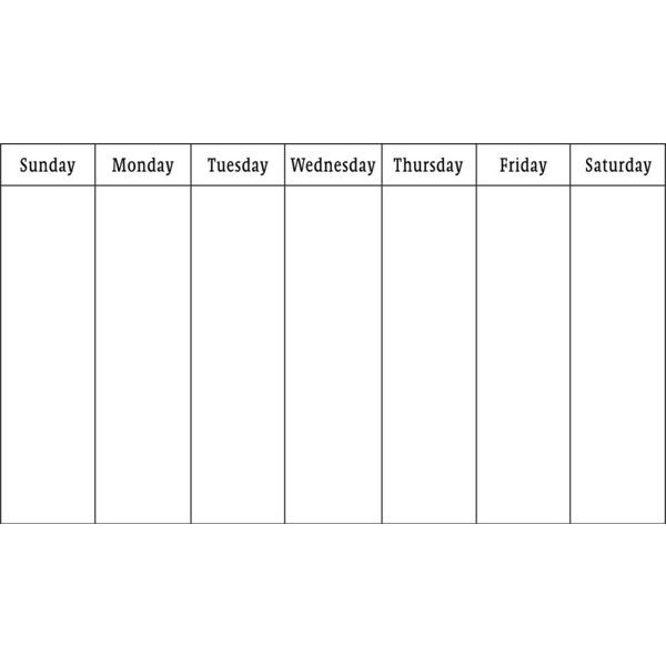 Calendar Outlines Printables : Blank weekly calendar liked on polyvore featuring tip
