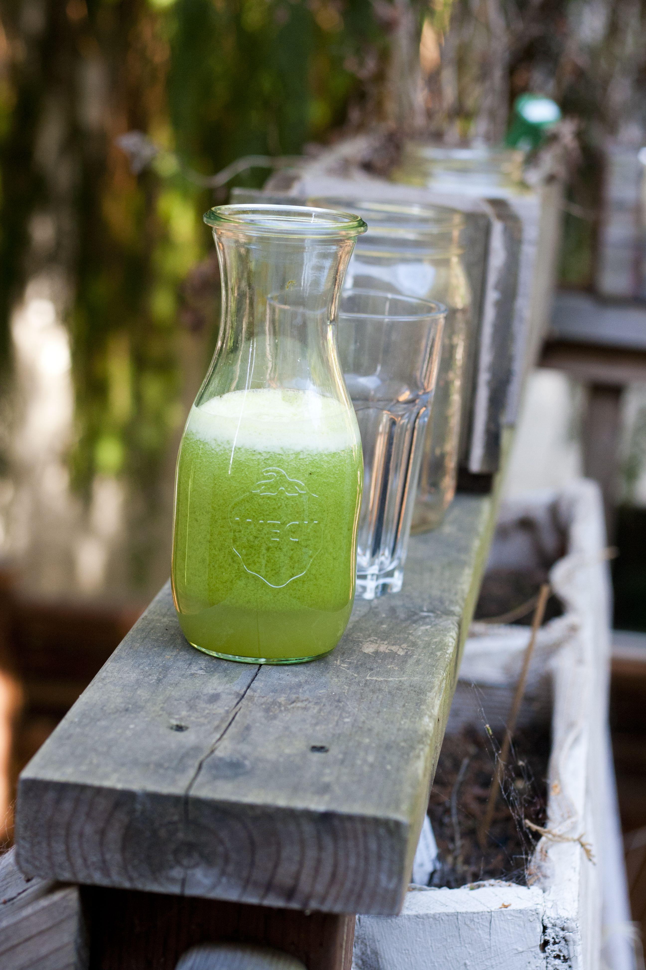 Juicy summer green juice juicy beer garden