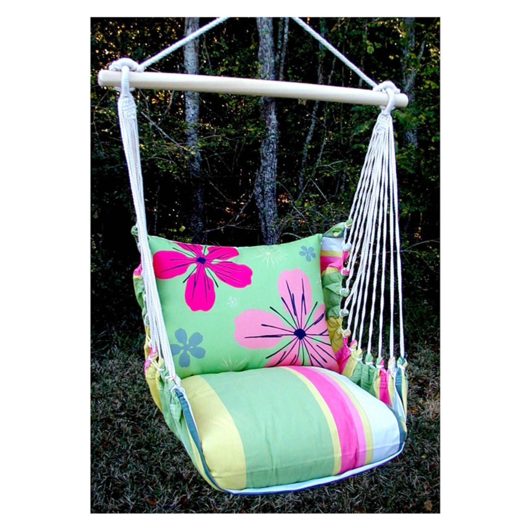 Outdoor magnolia casual garden flowers hammock chair and pillow set