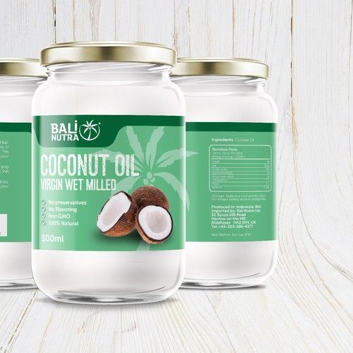 Designs | Coconut Oil Label | Product label contest | Packaging ...