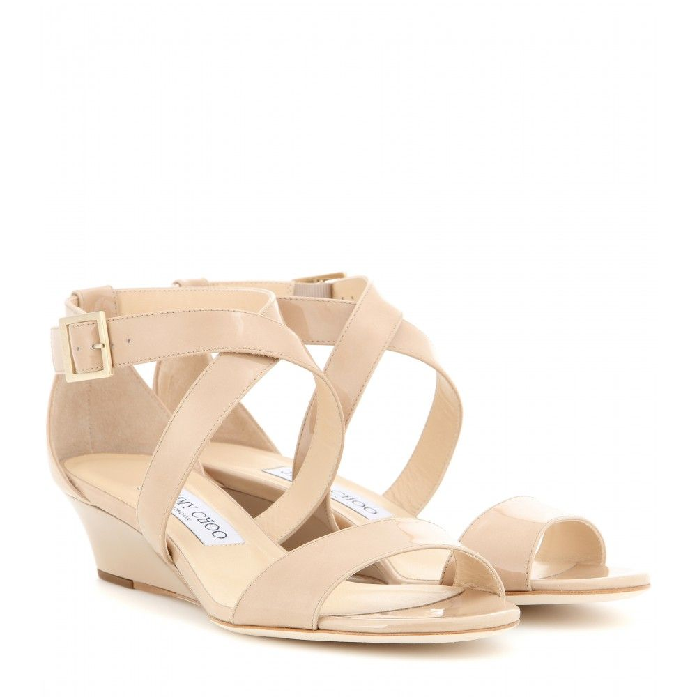 14c4955ee62e Jimmy Choo - Chiara patent leather sandals - Breeze into summer with a  touch of femininity