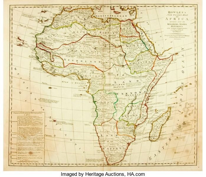 Booksmaps atlases maps africa bowless new pocket map of bowless new pocket map of africa dividedinto its kingdoms states republics and other subdivision gumiabroncs Choice Image