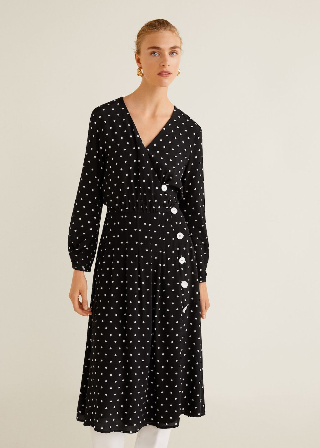1a1514198b Polka-dot flared dress - Women in 2019 | workwear | Dresses, Flare ...