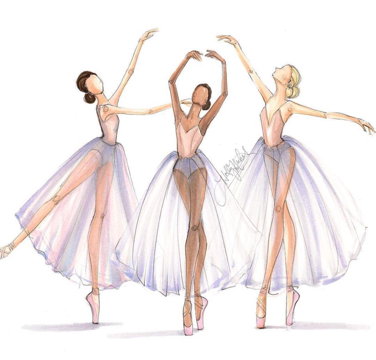 Тебе, картинки балета для срисовки