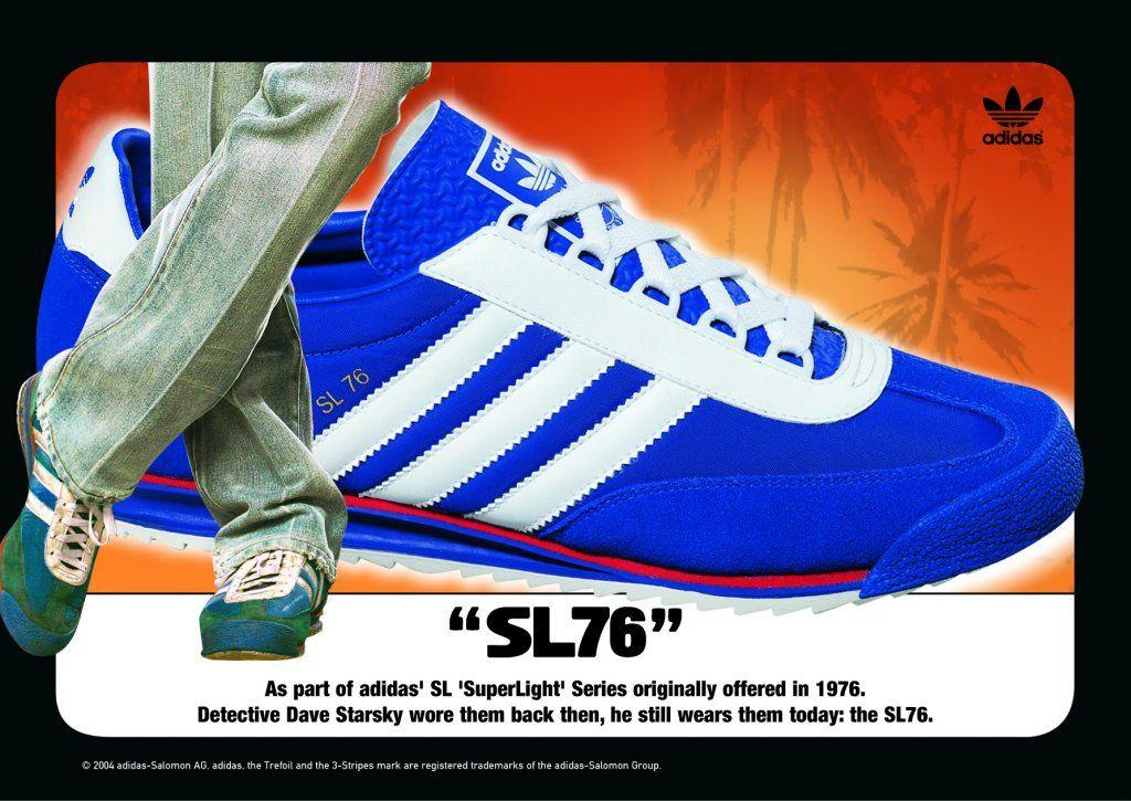 Adidas SL 76 en azul retro anuncios Pinterest recuerdos de infancia