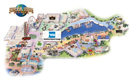 Universal Florida Map.Amex Lounge Entrance To The American Express Lounge Is Located In