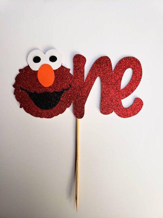 Elmo First Birthday Cake Topper Sesame Street