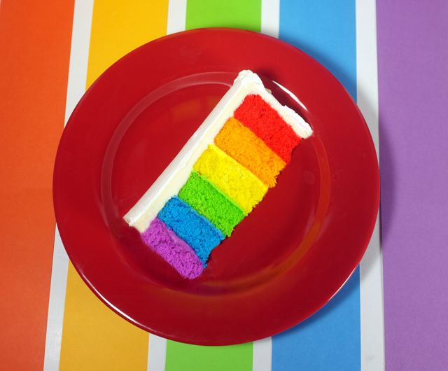 how to make a perfect rainbow cake