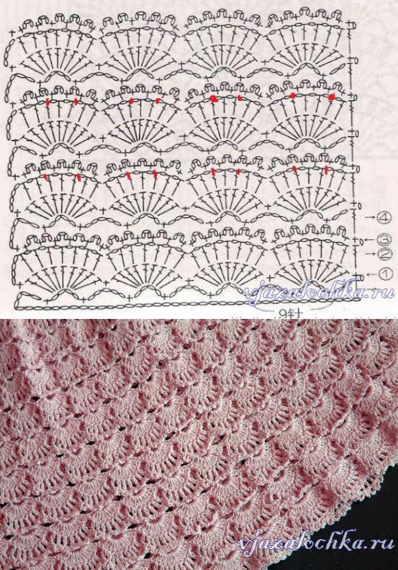 узоры крючком | ВАУ | Pinterest | Ganchillo, Puntadas y Puntos crochet
