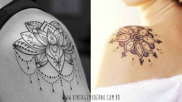 Vintage Moderno: Inspirações de tatuagem   Ombro