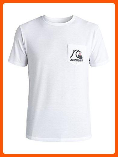 Quiksilver Mens Bubble Amphibian Short Sleeve Rashguard Rash Guard Shirt