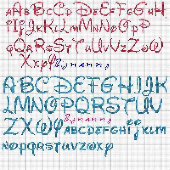 pinterest punto croce alfabeto disney cerca con google