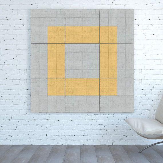 TRANSFORMABLE Modular Set Canvas print Minimal Geometric Abstract ...