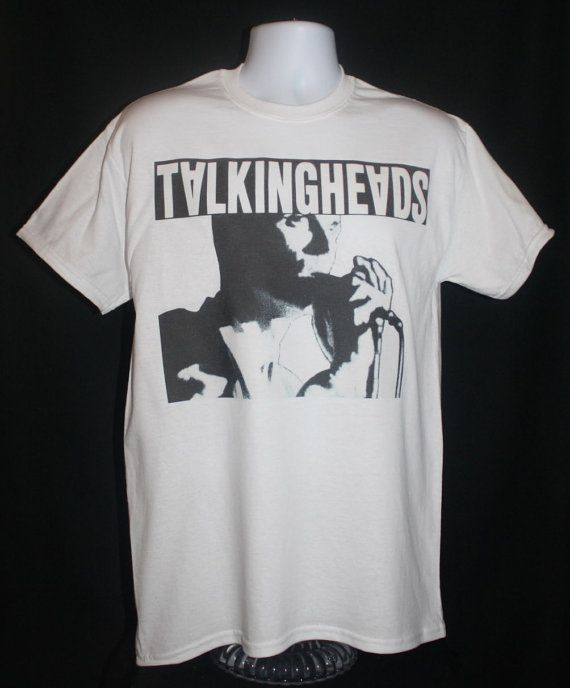 brand new * talking heads t-shirt remain in light fear of music 70s 80s indie vintage punk  *  Available in Small, Medium, Large or XL.