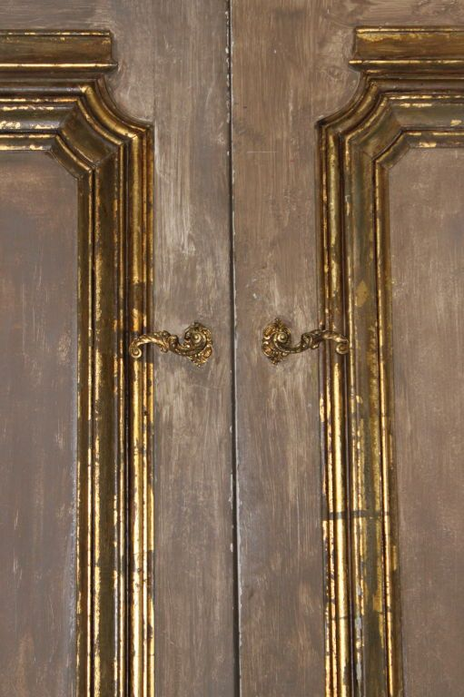 Pair of French Painted \u0026 Parcel Gilt Doors C. 1940\u0027s & Pair of French Painted \u0026 Parcel Gilt Doors C. 1940\u0027s | 1940s Doors ...