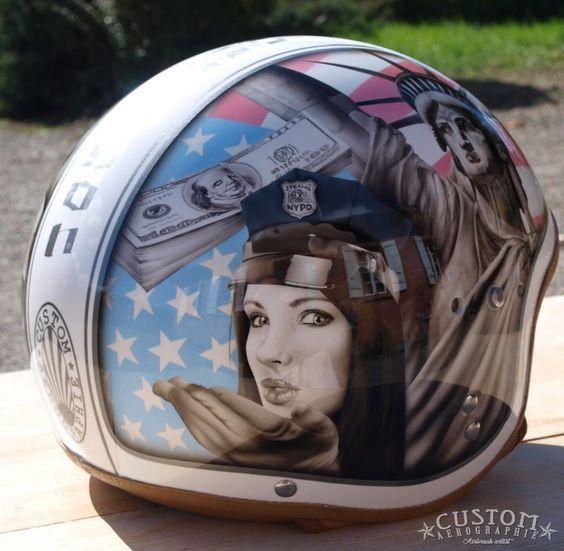 Pin Up Girl Motorcycle Helmet
