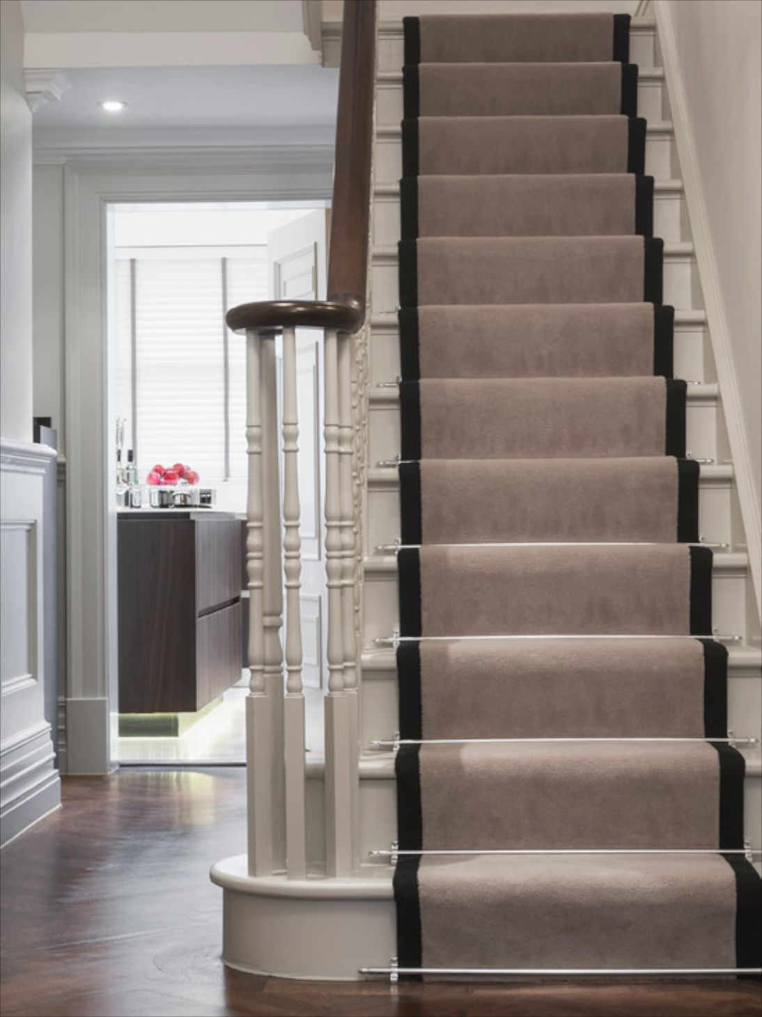 Marvelous Simplicity Is All You Need When It Comes To Stair Tread. Wooden Stairs With  A Runner.