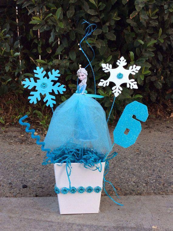 Disney Frozen Elsa Birthday Centerpiece By Fantastikcreations Frozen Theme Party Disney Frozen Birthday Party Frozen Themed Birthday Party
