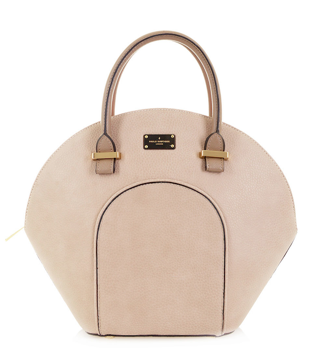 Paul's Boutique shell-shaped Meg handbag in classic nude. Online now || www.paulsboutique... x