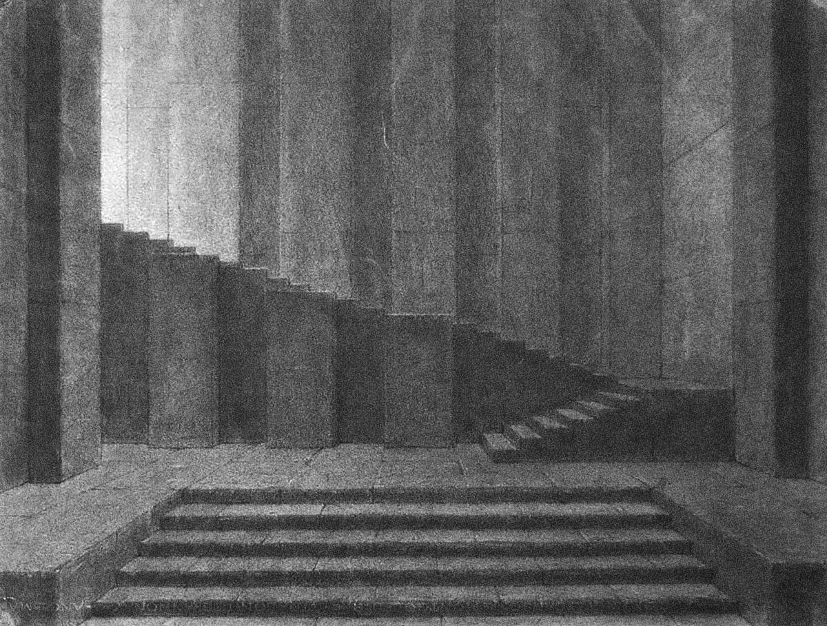 ADOLPHE APPIA SKETCH, CIRCA 1900 | Set design theatre, Stage set ...