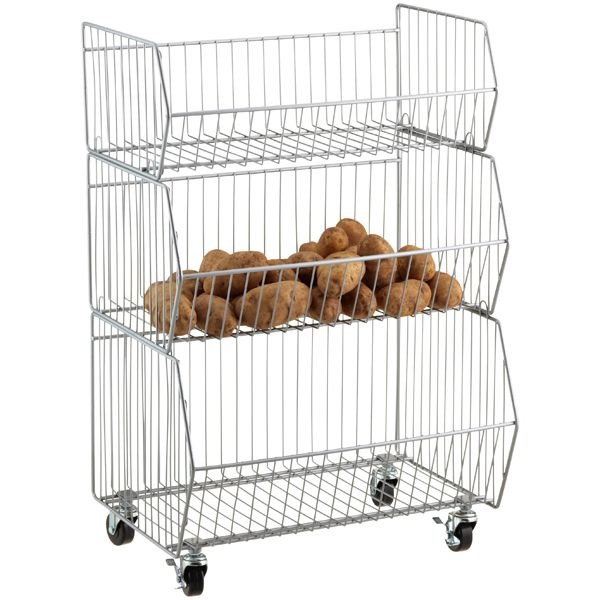 The Container Store U003e Steel 3 Tier Storage Cart, ...