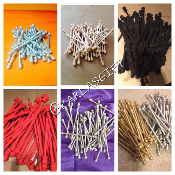 50 DIY Scroll Invitation Rods | Quinceanera Ideas | Scroll ...