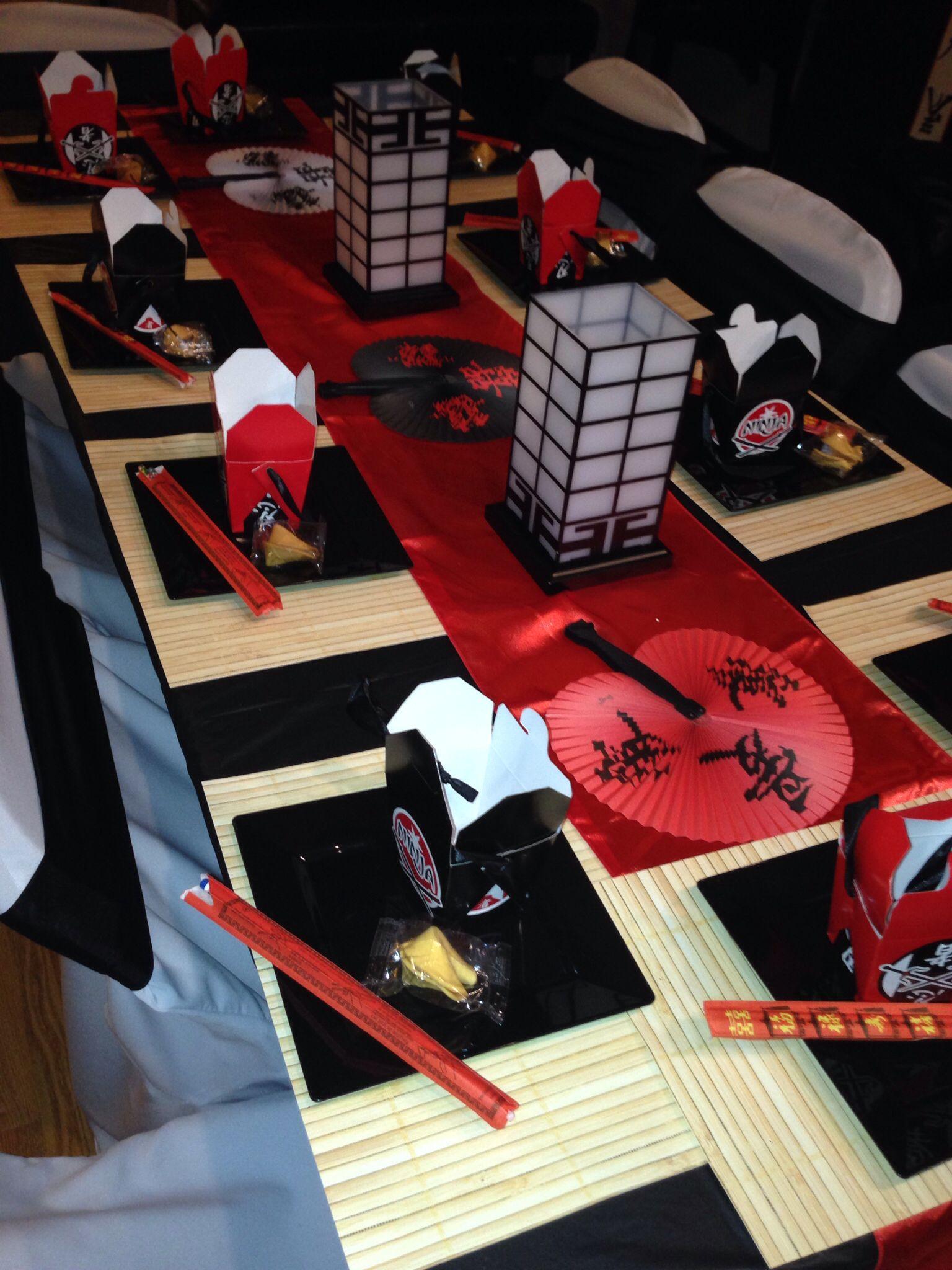 Japanese Style Table Setting Modern Ninjago Style Ninja Birthday Party Hostess With The