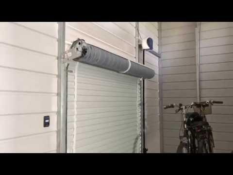 Roll Up Automatic Garage Door Opener Youtube Automatic Garage Door Opener Automatic Garage Automatic Garage Door