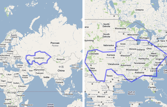 Size Kazakhstan Compared To The United States Map From - Us size map