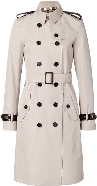 Burberry Cotton Trench Coat - Lyst