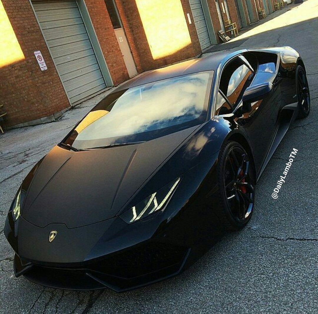 Matte Black Lambo Huaran Sports Cars Luxury Lamborghini Cars Dream Cars